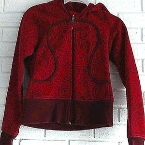Rare, vintage red swirl lululemon scuba hoodie